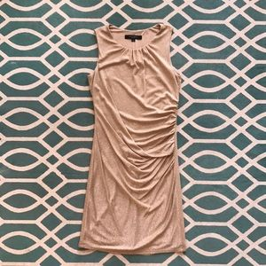 Fitted, gold, below-the-knee Nine West dress